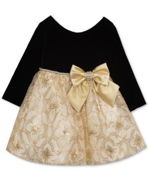 Kids 1950s Clothing & Costumes: Girls, Boys, Toddlers Rare Editions Velvet  Sequin Dress Baby Girls 0-24 months $21.99 AT vintagedancer.com