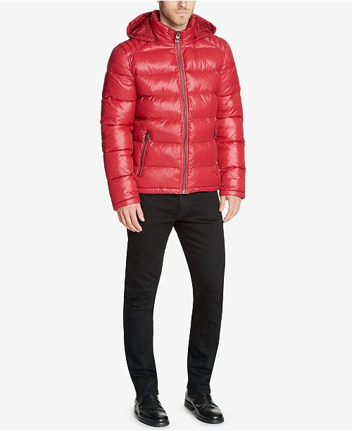 Guess Men S Hooded Puffer Coat Coats Amp Jackets Men