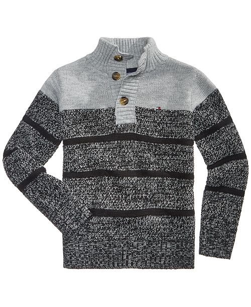 dba24a3c8 Tommy Hilfiger Colorblocked Mock-Neck Vince Sweater