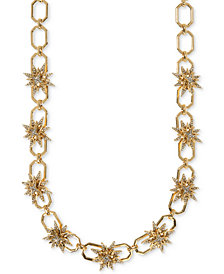 Ivanka Trump Gold-Tone Pavé Starburst Collar Necklace