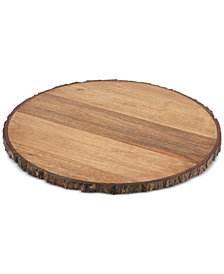 Thirstystone Bark-Edge Wood Lazy Susan