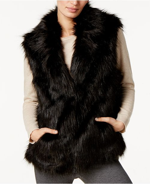 I.N.C. Faux Fur Vest, Created for Macy's