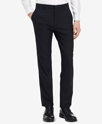 Fitted Textured Wool Trousers Calvin Klein