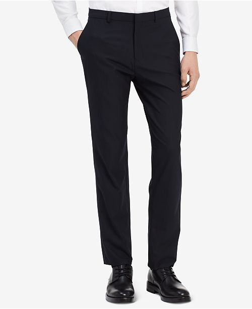 Fitted Textured Wool Trousers Calvin Klein RJv3RrN
