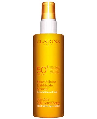 Clarins Sunscreen Care Milk-Lotion Spray SPF 50+, 5.3 oz