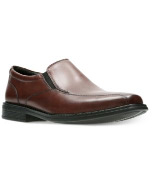 Bostonian Men's Free Brown Leather Dress Bike-Toe Loafers Men's Shoes 4647484