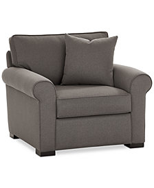 "Astra 42"" Fabric Armchair, Created for Macy's"