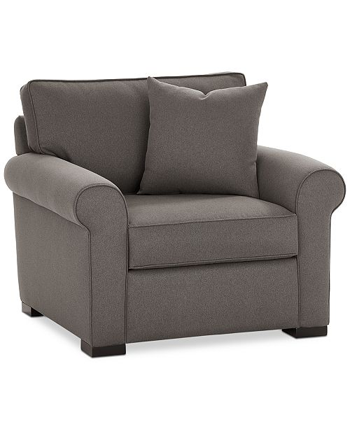 "Macysfurniture Com: Furniture Astra 42"" Fabric Armchair, Created For Macy's"