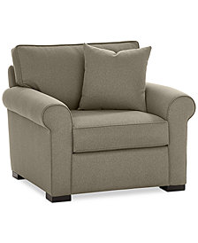 "Astra 42"" Fabric Armchair - Custom Colors, Created for Macy's"