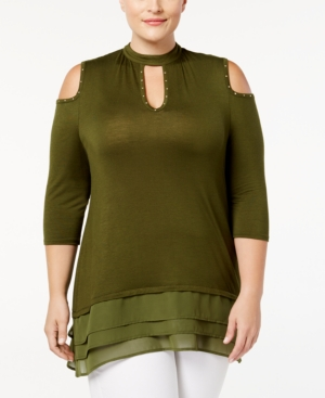 Belldini Plus Size Cutout...