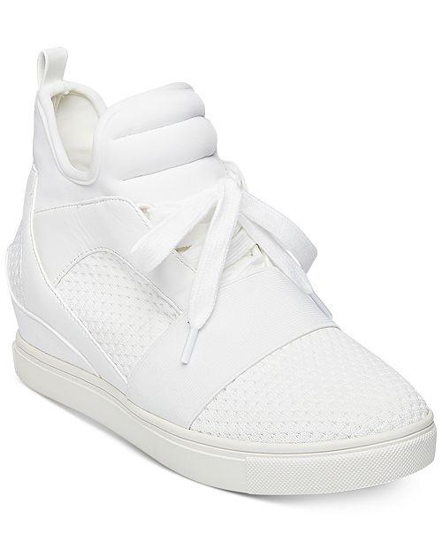 d066bcedd06 Steve Madden Women s Lexi Flyknit Wedge Sneakers   Reviews ...