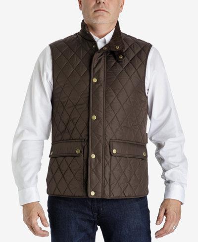 London Fog Mens Big Tall Diamond Quilted Vest Coats Jackets