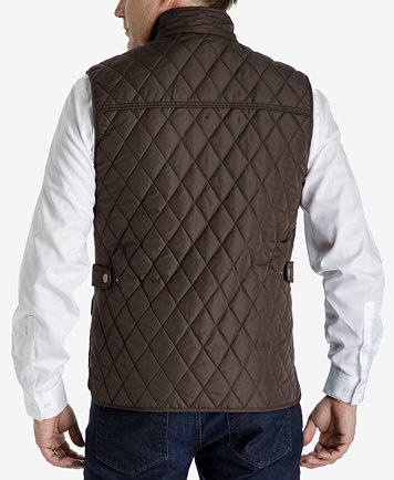 London Fog Men's Diamond Quilted Vest - Coats & Jackets - Men - Macy's
