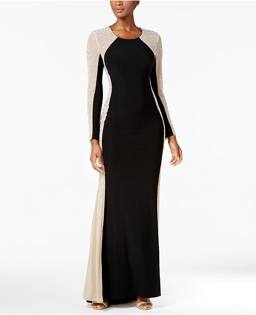 Xscape Rhinestone Illusion Gown Dresses Women Macy S