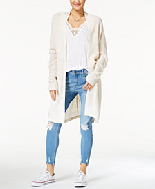 American Rag Juniors' Duster Cardigan, Lace-Trim Tank Top & Embroidered Skinny Jeans, Created for Macy's