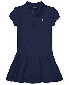 Ralph Lauren Little Girls Pleated Polo Dress