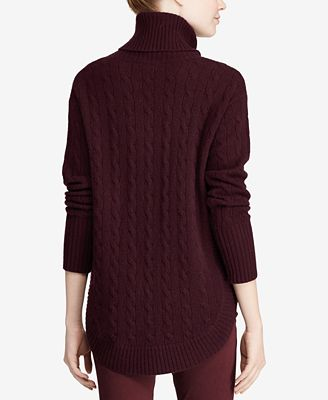 Polo Ralph Lauren Cable Knit Turtleneck Sweater Sweaters Women