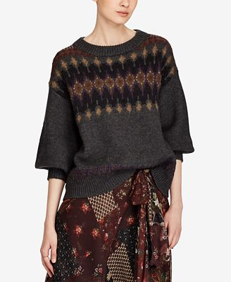 Polo Ralph Lauren Fair Isle Sweater - Sweaters - Women - Macy's