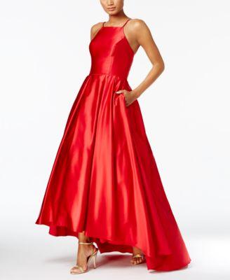 fd553d662fd Betsy   Adam High-Low Satin Gown   Reviews - Dresses - Women - Macy s