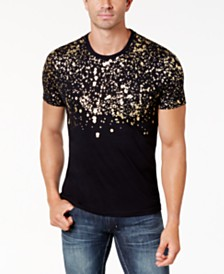 I.N.C. Men's Gold-Foil T-Shirt, Created for Macy's