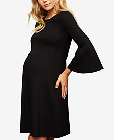 Isabella Oliver Maternity Bell-Sleeve A-Line Dress