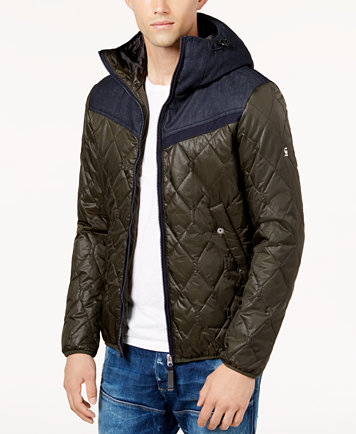 G-Star RAW Men's Colorblocked Quilted Jacket - Coats & Jackets ... : brown quilted coat - Adamdwight.com