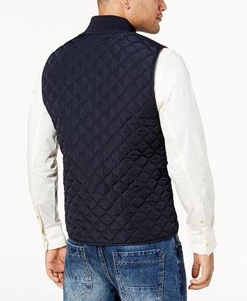 Sean John Men's Big & Tall Quilted Vest - Coats & Jackets - Men ... : quilted mens vest - Adamdwight.com
