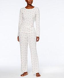 Charter Club Thermal Fleece Pajama Set, Created for Macy's