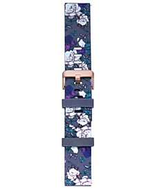 Smart Buddie Platinum Wisteria Floral-Print Sport TPE Strap for 22mm Smart Watch