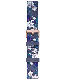 VogueStrap Smart Buddie Platinum Wisteria Floral-Print Sport TPE Strap for 22mm Smart Watch
