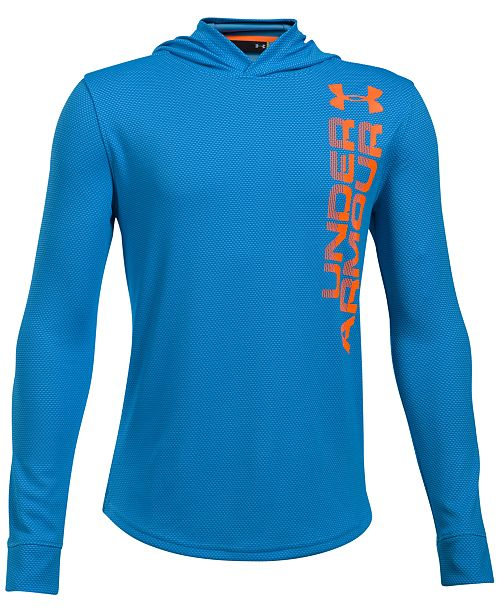 Under Armour Two-Tone UA Tech™ Hooded Shirt, Big Boys