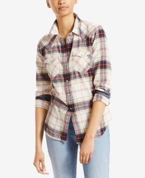 COTTON VINTAGE PLAID WESTERN SHIRT