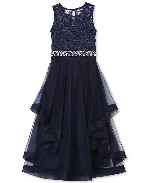 Speechless Embellished-Lace Maxi Dress, Big Girls (7-16 ...