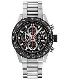 Men's Swiss Automatic Carrera Chronograph Steel Bracelet Watch 45mm