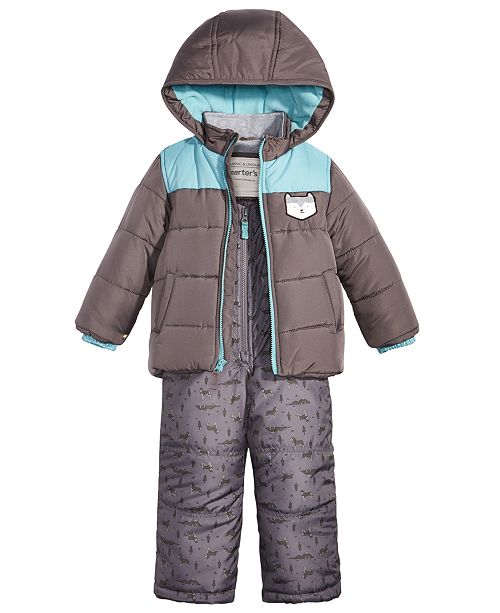 2254d4268 Carter's 2-Pc. Colorblocked Snowsuit, Toddler Boys & Reviews ...