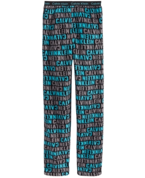 Calvin Klein Plush Printed Pajama Pants Little Boys  Big Boys