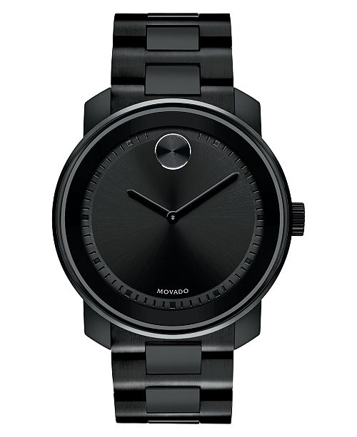 Movado Men's Swiss BOLD Black Stainless Steel celet Watch 43mm ... on black smeg, black ge, black paula deen, black apple, black hp, black samsung, black whirlpool, black microsoft, black pfaltzgraff, black aga, black gibson, black lg, black tupperware, black estate,