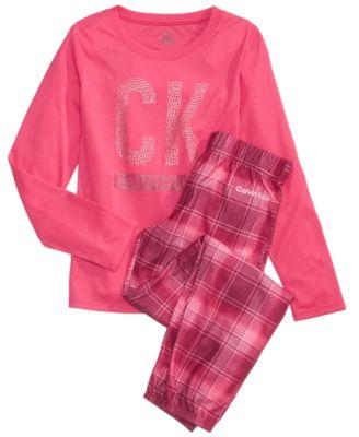 Carter's 2-Pc. Plaid Dog Pajama Set, Little Girls (4-6X) & Big ...
