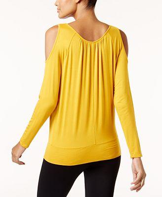Thalia Sodi Cold Shoulder Blouse Created For Macy S Tops Women