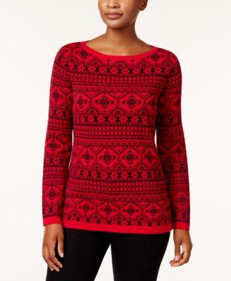 Karen Scott Cotton Terrier-Print Sweater, Created for Macy's ...