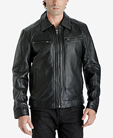 Michael Kors Men's Leather Bomber Jacket