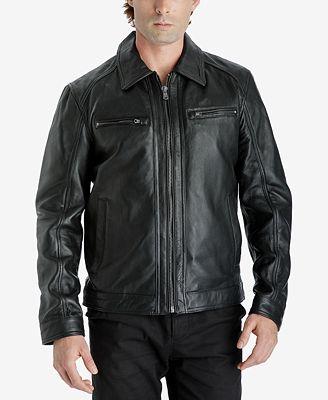 Michael Kors Men's Leather Bomber Jacket - Coats & Jackets - Men ...