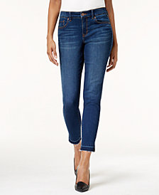 Style & Co Petite Released-Hem Skinny Jeans, Created for Macy's