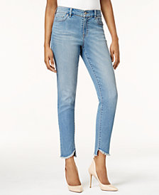 Style & Co Slant-Hem Skinny Jeans, Created for Macy's