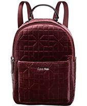 Calvin Klein Collaboration Quilted Velvet Backpack