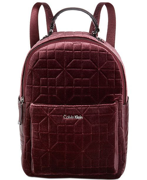 Calvin Klein Collaboration Quilted Velvet Backpack