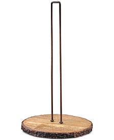 Thirstystone Bark-Edged Wood & Iron Paper Towel Holder