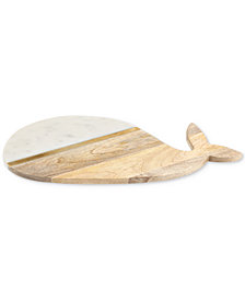 CLOSEOUT! Thirstystone Whale Marble & Wood Serving Board