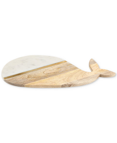 Thirstystone Whale Marble & Wood Serving Board