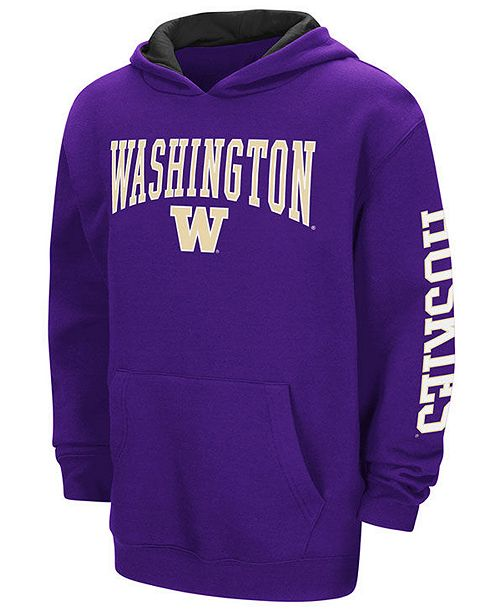 Colosseum Washington Huskies Zone Pullover Hoodie, Big Boys (8-20)